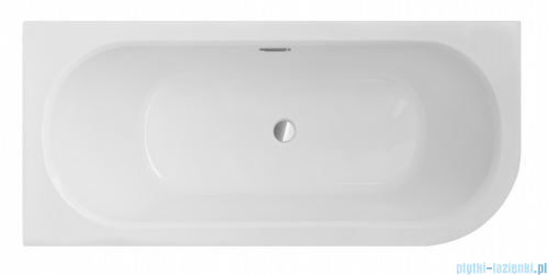 Besco Avita Slim + 170x75cm wanna asymetryczna lewa + syfon #WAV-170-SL+