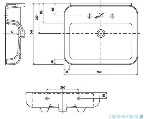 Koło Ego umywalka 65cm powłoka Reflex K11165900