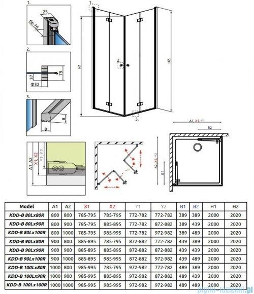 Radaway Fuenta New Kdd-B kabina 90cm część lewa szkło przejrzyste 384071-01-01L