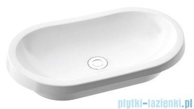 Marmorin Pia 600 umywalka wpuszczana w blat 62x36 cm biała 570060020010