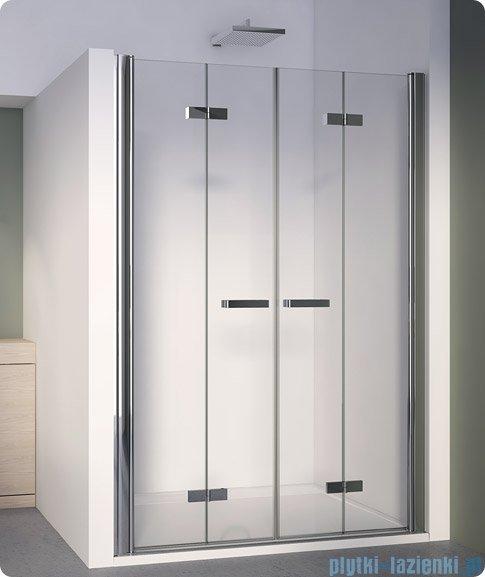 SanSwiss Swing Line F SLF2 Drzwi składane 180cm profil srebrny SLF218000107