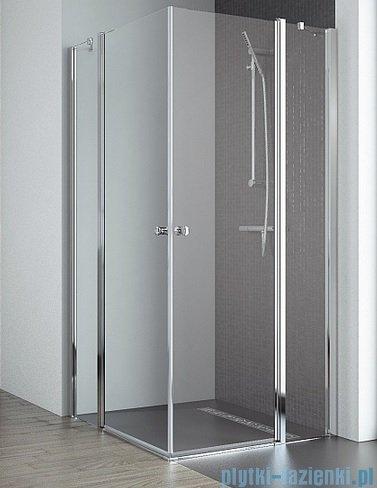Radaway Eos II KDD kabina prysznicowa 90x90 szkło przejrzyste + brodzik Delos C + syfon