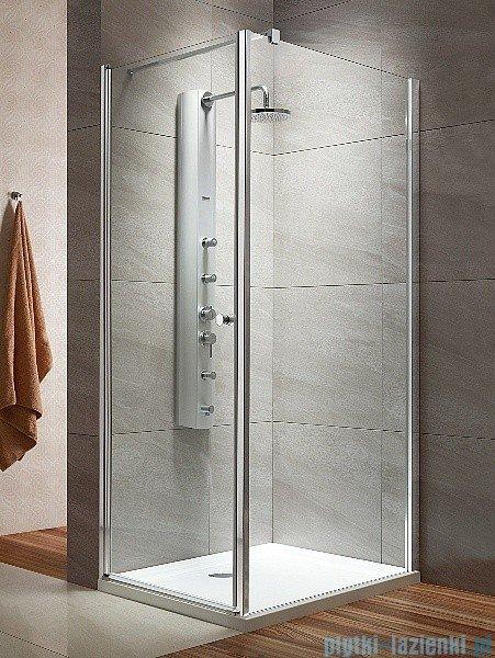 Eos KDJ Radaway kabina prysznicowa 80x80 lewa szkło intimato montaż na poszadzce