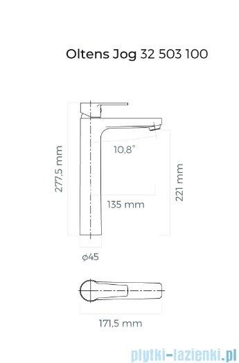 Oltens Jog bateria umywalkowa wysoka chrom 32503100