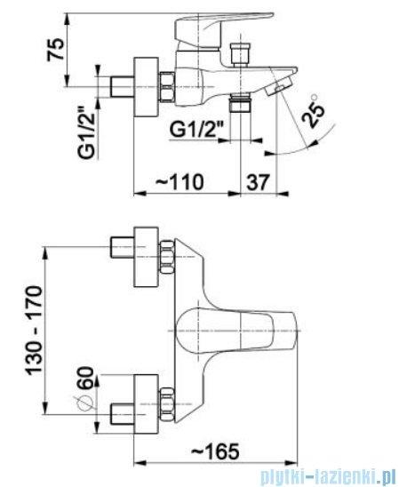 KFA German bateria wannowa, kolor chrom 4514-010-00