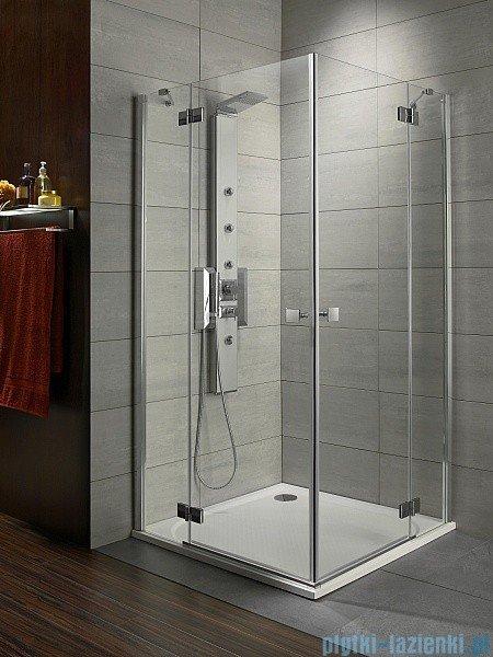 Radaway Almatea Kdd Gold kabina prysznicowa 80x90 szkło przejrzyste