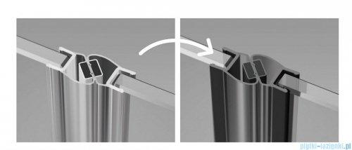 Radaway Furo Black KDJ RH kabina 100x90cm prawa szkło przejrzyste 10104492-54-01RU/10110510-01-01/10113090-01-01