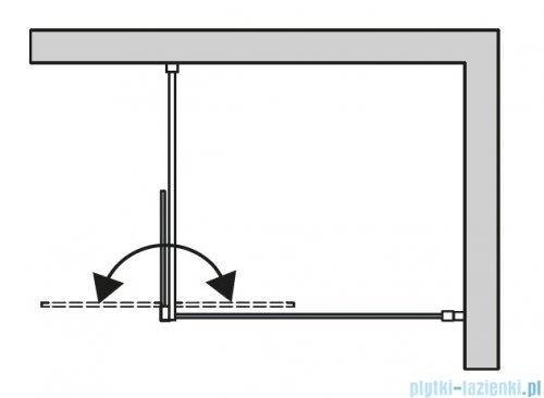 SanSwiss Cadura Gold Line kabina Walk in 120cm prawa ze ścianką ruchomą  CADUOD1201207