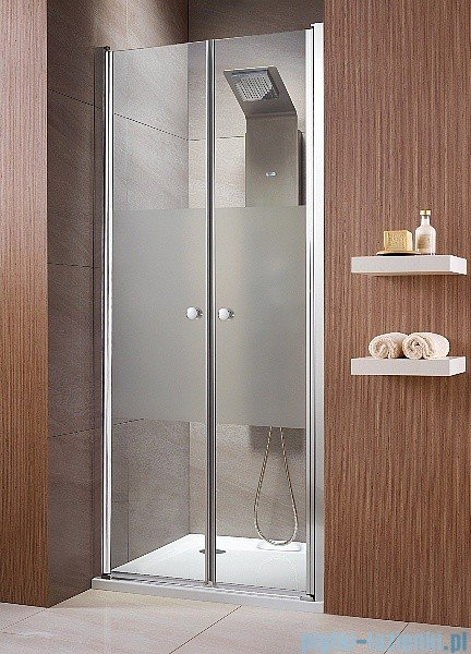 Radaway Eos DWD Drzwi wnękowe 90 szkło intimato + brodzik Delos C + syfon