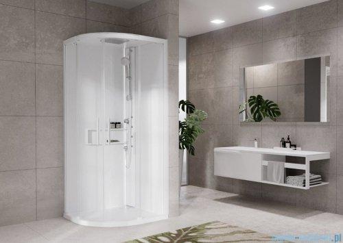 Novellini Glax 2 2.0 kabina z hydromasażem hydro plus 90x90 total biała G22R90M1L-1UU