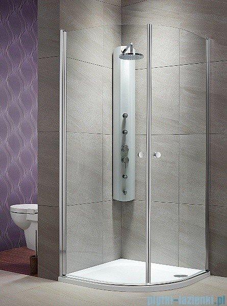 Radaway Eos PDD kabina prysznicowa 80x80 szkło przejrzyste + brodzik Delos A + syfon
