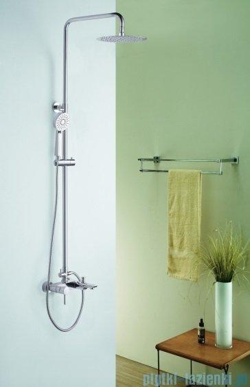 Blue Water Icona zestaw wannowo-prysznicowy natynkowy chrom