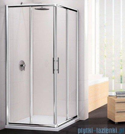Novellini Ścianka Kabiny prysznicowej LUNES 72 cm szkło przejrzyste profil biały LUNESA72L-1D