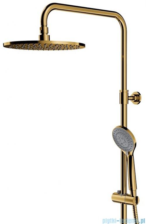 Omnires Y zestaw prysznicowo-wannowy natynkowy termostatyczny złoty Y1234ALGL
