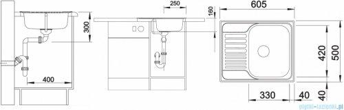 Blanco Tipo 45 S Mini zlewozmywak  stal szlachetna matowa  bez k. aut. 516524