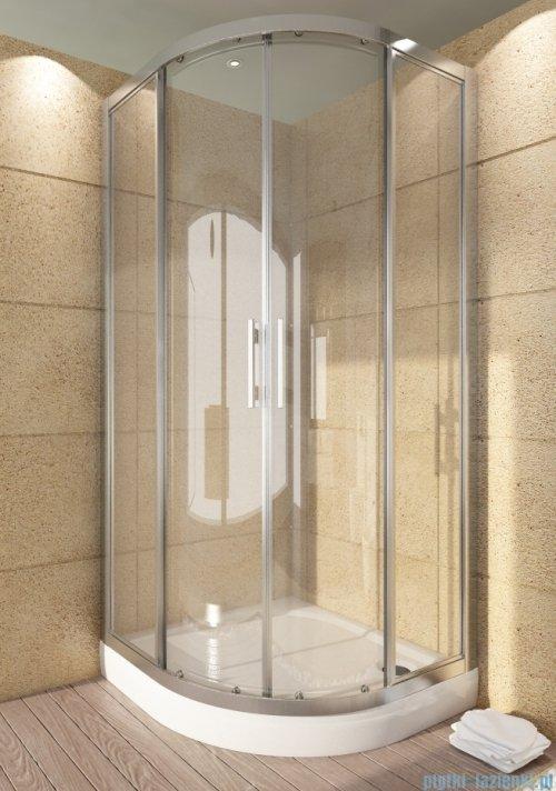SanSwiss Top-Line TOPR Kabina prysznicowa półokrągła 90cm profil srebrny TOPR500900107