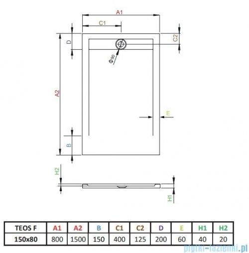 Radaway Teos F brodzik 150x80cm czarny HTF15080-54