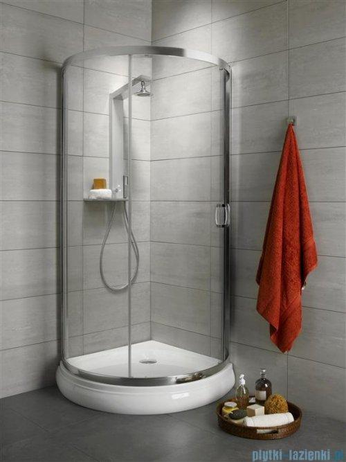 Radaway Premium Plus B Kabina półokrągła z drzwiami jednoczęściowymi 90x90 szkło fabric
