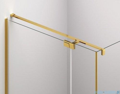 SanSwiss Cadura Gold Line drzwi wahadłowe 75 cm jednoczęściowe prawe z profilem przyściennym CA1CD0751207