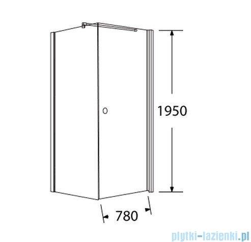 Sea Horse Fresh Line kabina kwadratowa z powłoką drzwi pojedyncze 80x80cm lewa BK259/1TL+