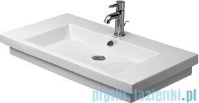 Duravit 2nd floor umywalka z przelewem z trzema otworami na baterie 800x500 049180 00 30