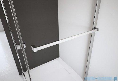 Radaway Euphoria KDJ Kabina prysznicowa 80x80 lewa szkło przejrzyste + brodzik Delos C + syfon 383512-01L/383241-01L/383051-01/SDC0808-01