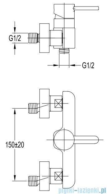 Omnires Darling zloty bateria prysznicowa złoto PVD DA5040GL