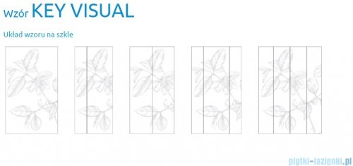 Grawer na szkle dla kabin Radaway wzór Key Visual