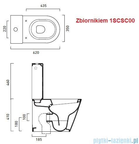 Catalano Zero Wc 62 miska WC kompakt 62x35cm biały 1MPZN00