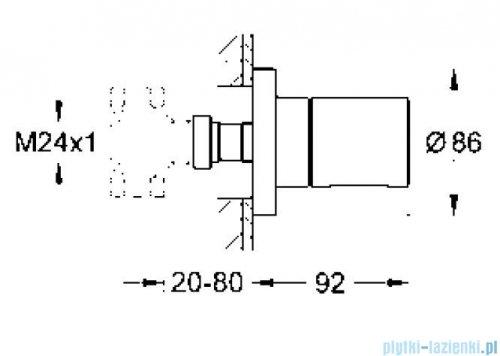 Grohe Grohtherm 3000 Cosmopolitan element zewnętrzny zaworu podtynkowego 19470000