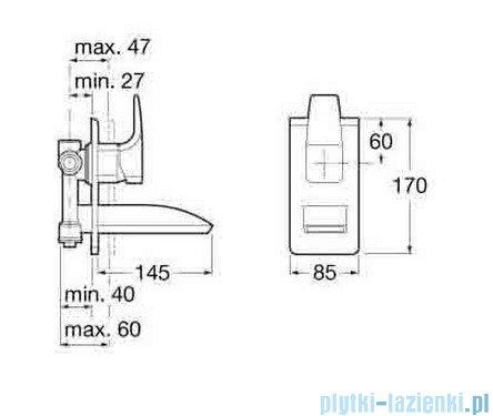 bateria umywalkowa podtynkowa chrom roca thesis a5a4750c00
