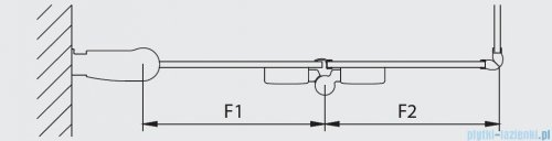 Kermi Diga Wejście narożne,połowa kabiny, lewa, szkło przezroczyste, profile srebrne 80x200cm DI2CL08020VAK