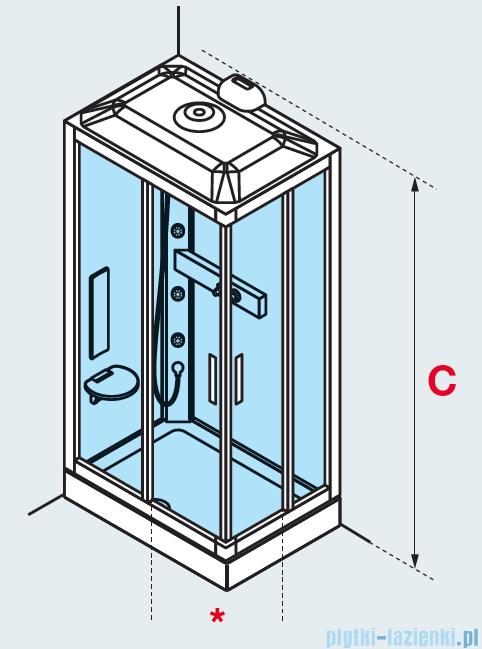 Novellini Glax 3 kabina standard 100x80 lewa srebrny GL3A100SM-1B