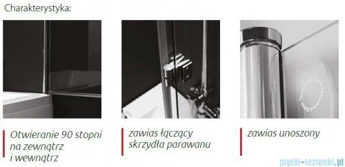 Atrium Sycylia II parawan nawannowy dwuskrzydłowy kolor: przejrzyste 115x140 cm QP097