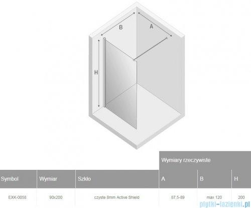 New Trendy New Modus Black kabina Walk-In 90x200 cm przejrzyste EXK-0058
