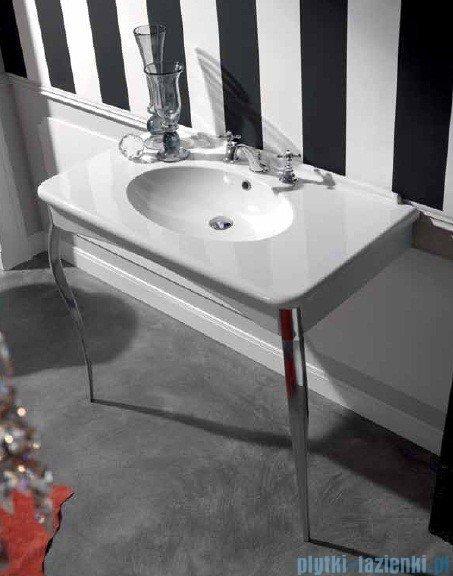 Kerasan Retro Umywalka biała z nogami chromowanymi 100x55 cm 1049K0