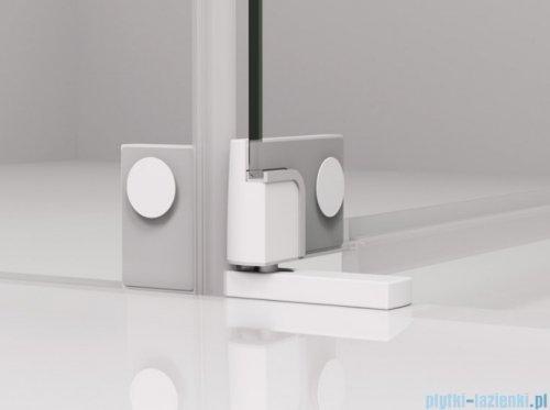 SanSwiss Cadura White Line drzwi wahadłowe 80cm jednoczęściowe prawe z polem stałym biały mat CA31CD0800907