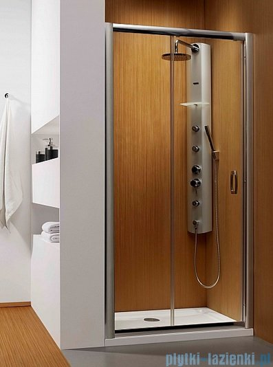 Radaway Premium Plus Dwj drzwi wnękowe 140cm szkło fabric