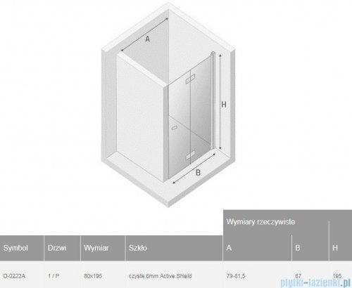 New Trendy New Soleo Black drzwi wnękowe bifold 80x195 cm przejrzyste prawa D-0222A