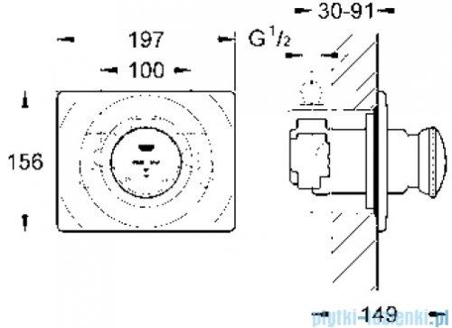 Grohe Contromix Surf samozamykająca bateria prysznicowa DN 15  36121000