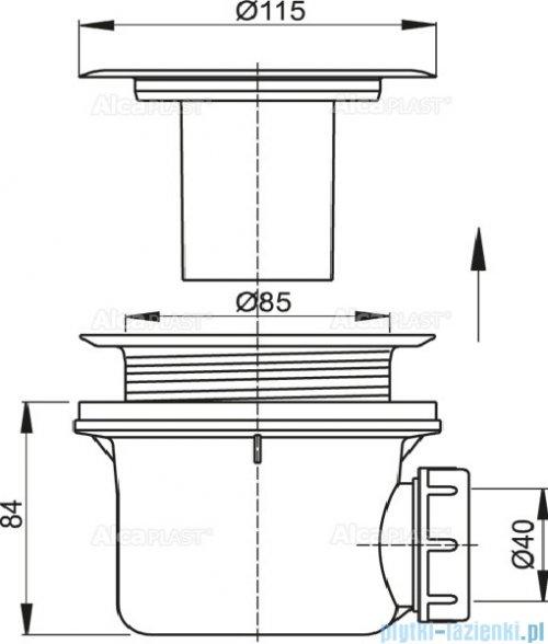 Alcaplast syfon brodzikowy Ø90 z metalowym sitkiem A48