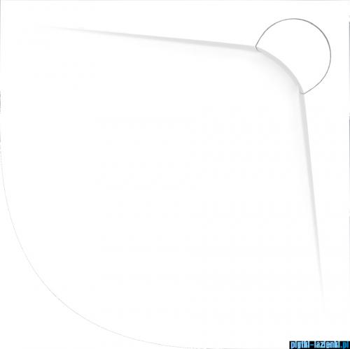 Vayer Bumerang 90x90cm Brodzik półokrągły z konglomeratu marmurowego
