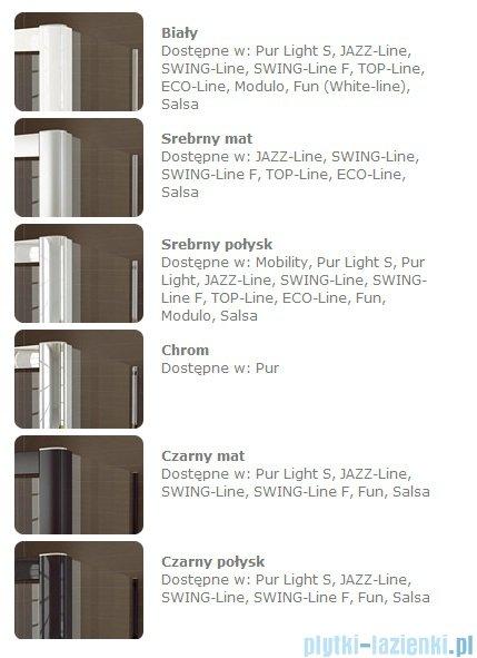 SanSwiss Top-Line TOPS2 Drzwi 2-częściowe rozsuwane 120-180cm profil srebrny TOPS2SM10107