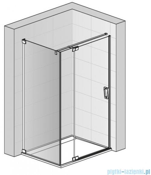 SanSwiss Cadura White Line ścianka boczna 90x200cm profile biały mat CAT30900907