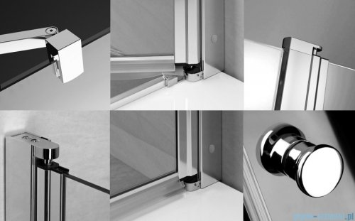 Radaway Eos II Dwd drzwi prysznicowe 170x195 W1 szkło przejrzyste 3799103-01-01/3799670-01-01
