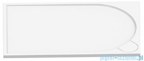 New Trendy Fluo brodzik prostokątny z konglomeratu 160x80x3 cm