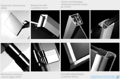 Radaway Kabina prysznicowa Almatea KDJ+S 80x80x80 prawa szkło przejrzyste 31532-01-01R1/31532-01-01R2