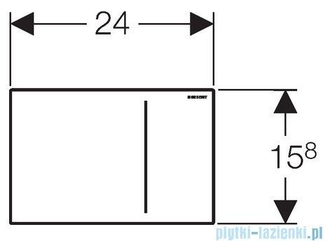 Geberit Sigma70 przycisk uruchamiający przedni biały 115.625.SI.1