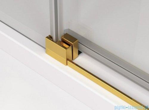 SanSwiss Cadura Gold Line drzwi przesuwne 130cm jednoskrzydłowe prawe z polem stałym CAS2D1301207