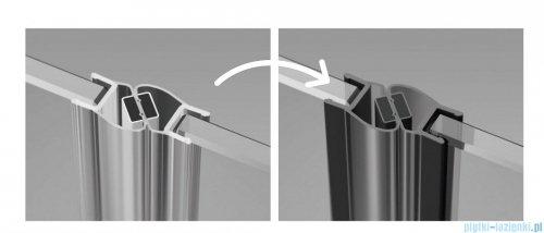 Radaway Nes Black Kdj I kabina 80x90cm lewa szkło przejrzyste czarne uszczelki magnetyczne